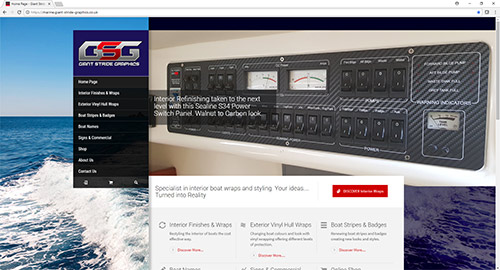 GSG Marine Website Screen Grab