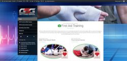Giant Stride Graphics First Aid Website Screen Grab